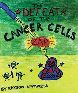 Comic book 'Defeat the Cancer Cells' cover art