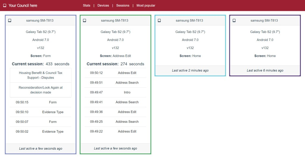 ScanStation Launches Live Reporting Feature - Devices Screenshot