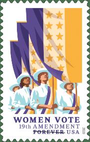 19th Amendment: Women Vote stamp