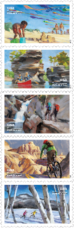 Enjoy the Great Outdoors stamps
