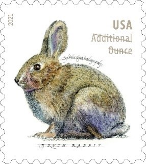 Brush Rabbit stamp