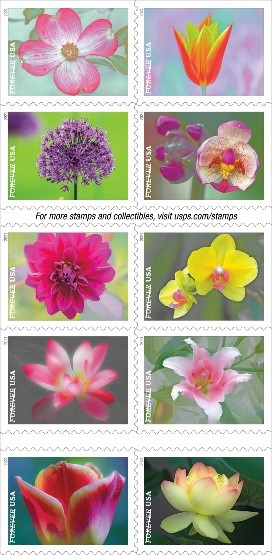 Garden Beauty stamps