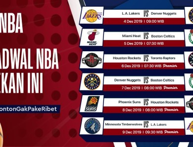 Jadwal NBA Pekan ini (20-25 November 2019)