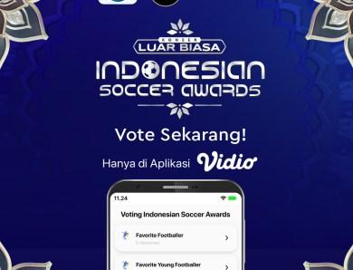 Vote Indonesian Soccer Awards 2019 di Aplikasi Vidio
