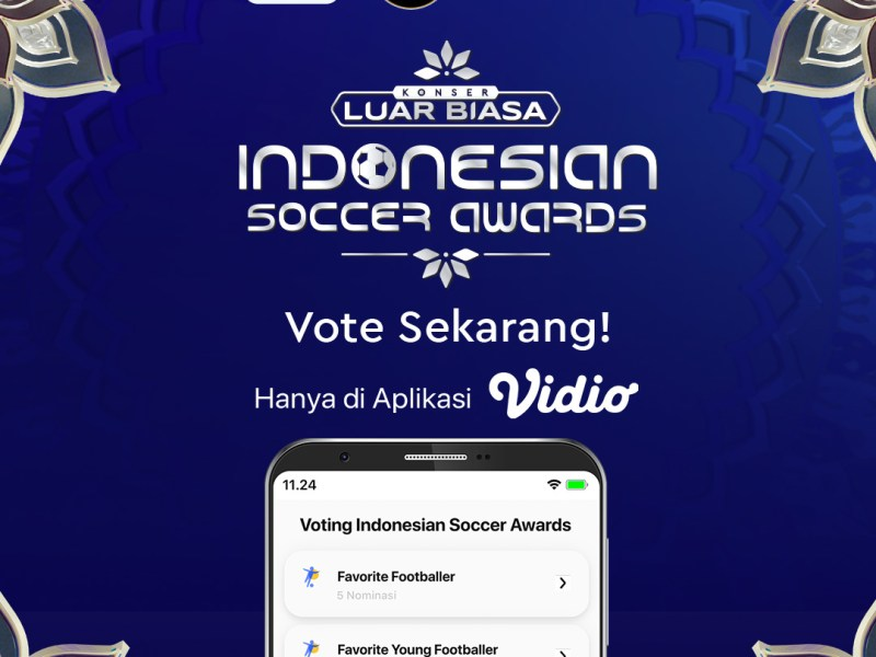 Vote Indonesian Soccer Awards 2019 di Aplikasi Vidio