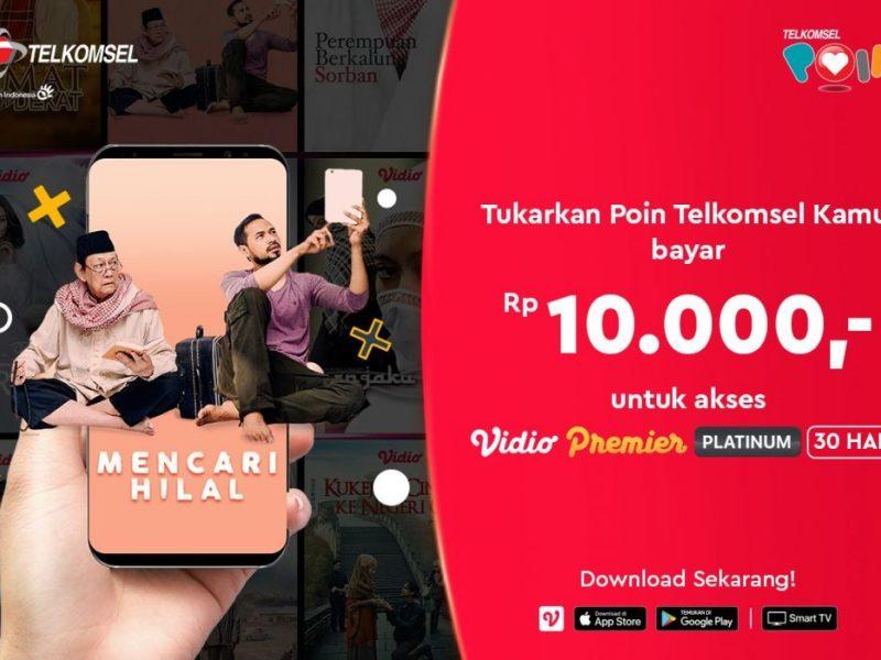 Dapatkan Vidio Premier Platinum Dengan Telkomsel Poin