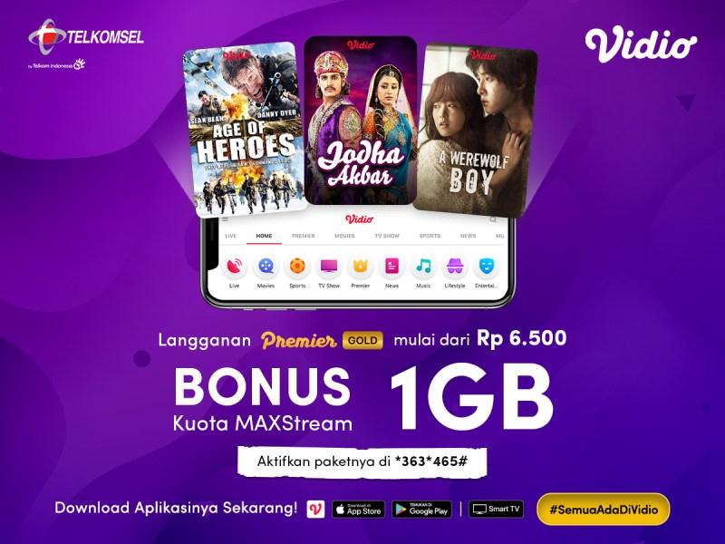 Bebas Nonton Film Pilihan bersama Paket Berlangganan Gold MAXstream Telkomsel