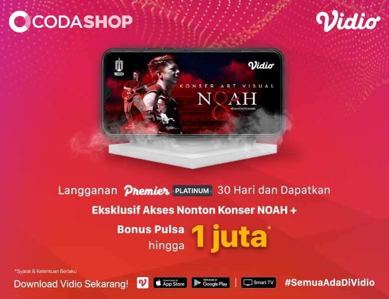 Gratis Nonton Konser NOAH dan Dapatkan Bonus Pulsa hingga 1 Juta Rupiah!