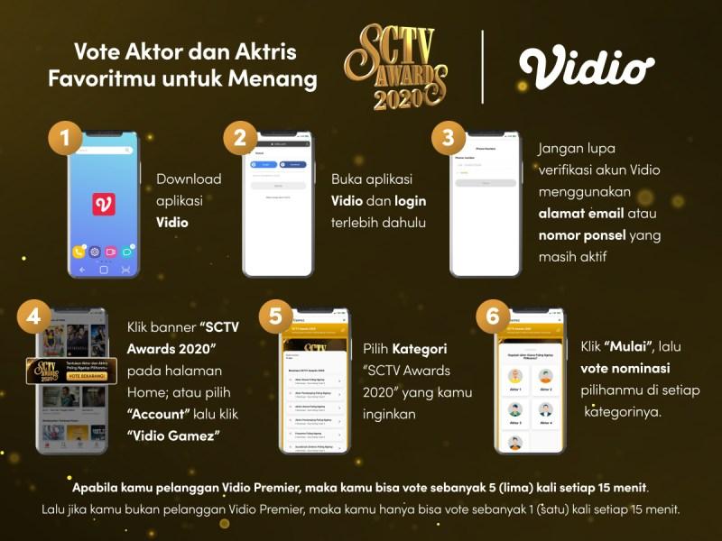 Vote Aktor dan Aktris Pilihanmu untuk Menang SCTV Awards 2020 di Aplikasi Vidio!