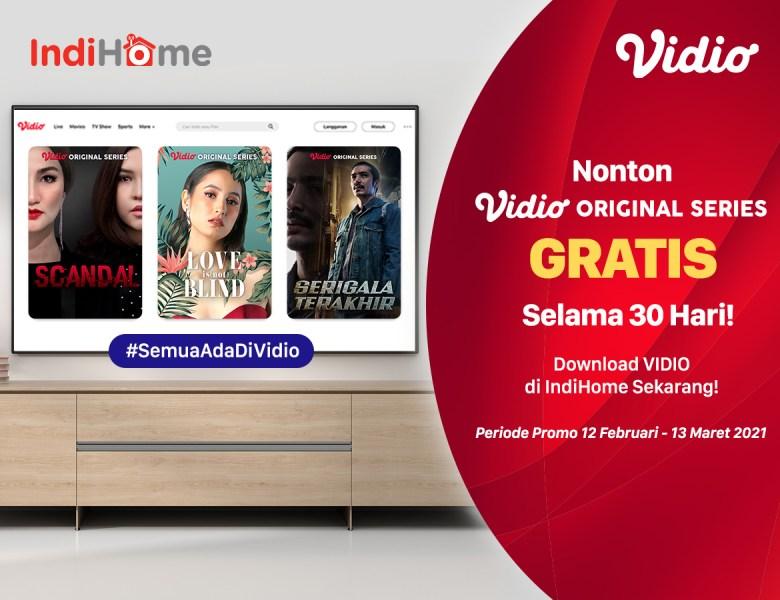 Promo IndiHome Dapat Vidio Premier 30 Hari GRATIS, Nonton Original Series Paling Hemat!