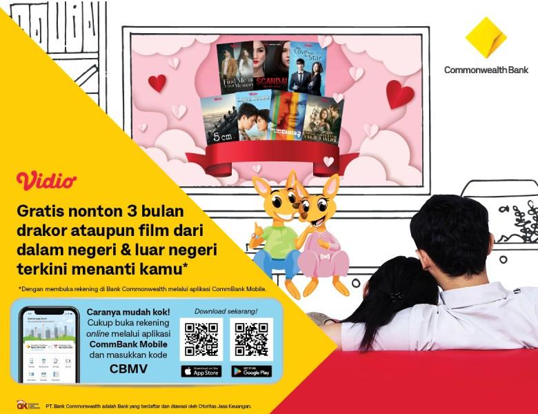 Bulan Penuh Cinta Banyak Rejeki, Promo Nonton Gratis dari Bank Commonwealth!