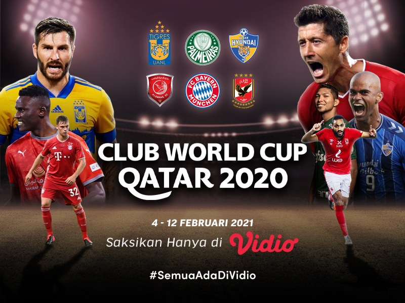 Jangan Lewatkan Live Streaming Piala Dunia Antarklub 2020 di Vidio