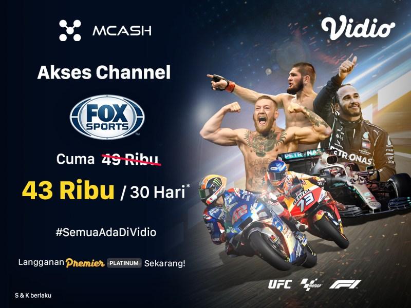 Murah Banget! Langganan Fox Sports dengan Mcash, Catat Periode Promonya