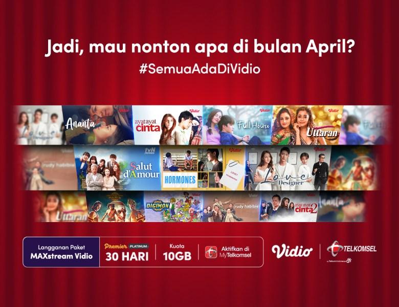 Promo Vidio Bulan April, Nonton Sepuasnya Lebih Murah