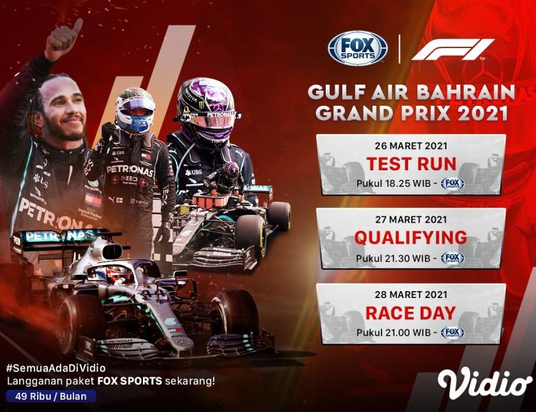 Streaming F1 di Vidio, Ini Jadwal dan Daftar Pembalap yang Bertanding
