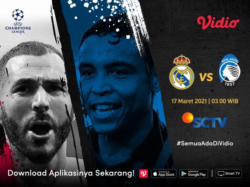 Nonton Real Madrid vs Atlanta Live, Ini Link Streamingnya