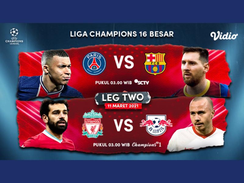 Nonton PSG VS Barcelona Leg 2 di Vidio, Ini Link Streamingnya