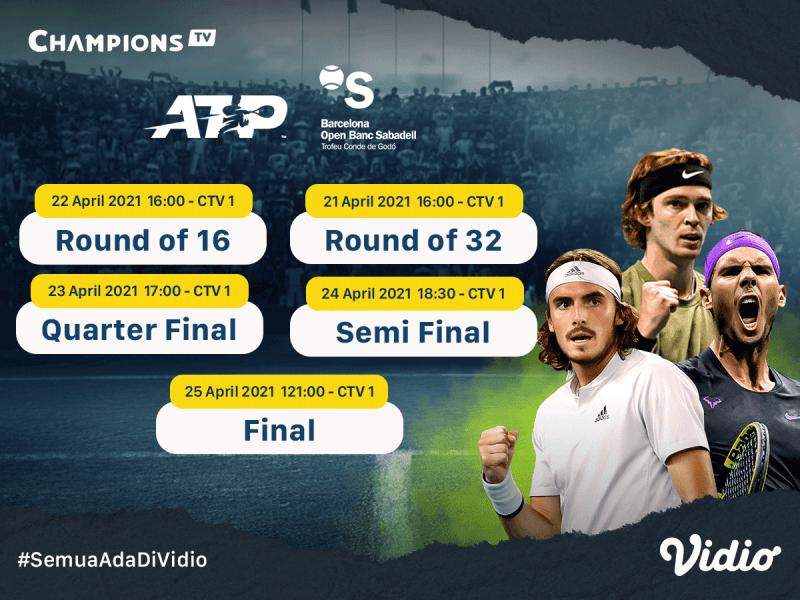 Jangan Sampai Ketinggalan, Jadwal dan Live Streaming ATP 500 Barcelona Open di Vidio