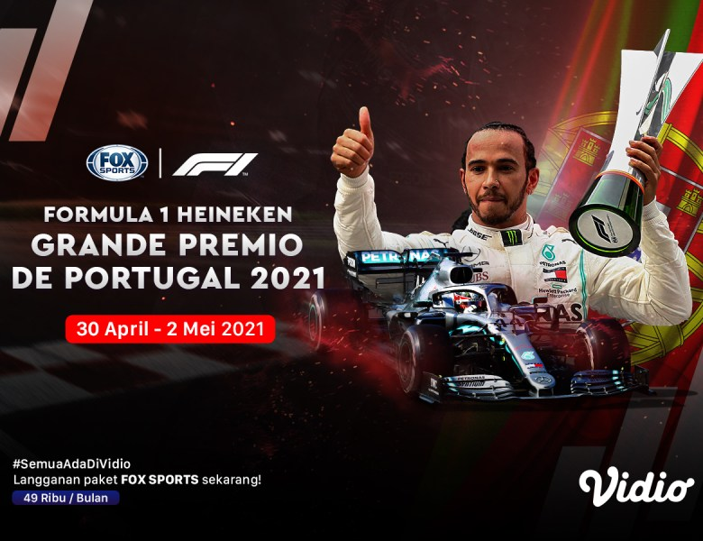 Live Streaming F1 Portugal di Kanal FOX Sports Eksklusif Melalui Vidio