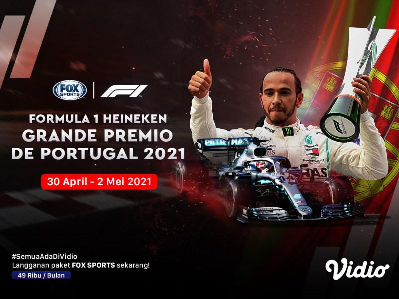 Live Streaming F1 Portugal di Kanal FOX Sports Eksklusif Melalui Vidio