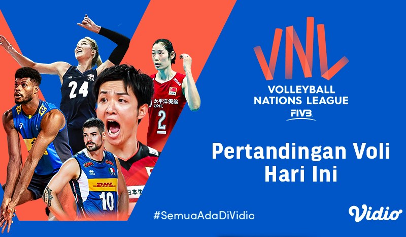 Live Streaming Big Match VNL 2021, Selasa 25 Mei 2021