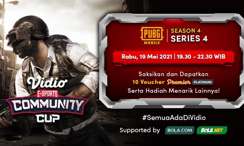 Live Streaming Vidio Community Cup Season 4 – PUBG Mobile