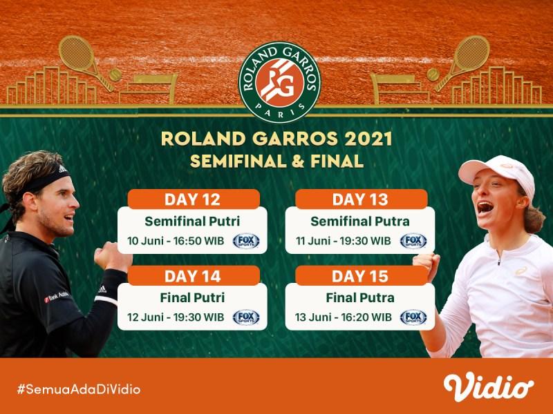 Jadwal Semifinal dan Final Grand Slam Roland Garros 2021 Pekan Ini: Alexander Zverev Raih Tiket Pertama, 10-13 Juni 2021 Eksklusif di Vidio