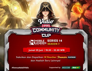 Jadwal Vidio Community Cup Season 7 Mobile Legends Series 14, Jumat 25 Juni 2021