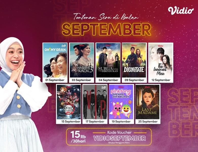 Nonton Film Hingga Drama Korea Semakin Seru dengan Promo Vidio Premier September