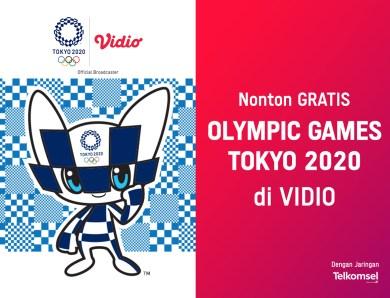 FAQ Olimpiade Tokyo 2020 untuk Pengguna Telkomsel, Nonton GRATIS di Vidio!