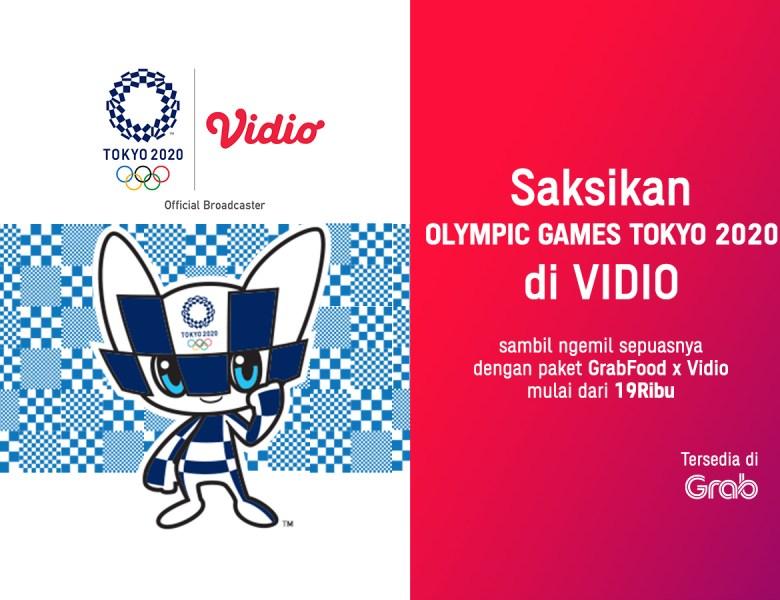 Beli Promo Paket GrabFood Bisa Dapat Voucher Vidio, Nikmat Sambil Nonton Olimpiade Tokyo 2020!