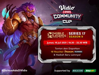Vidio Community Cup Mobile Legends Hari Ini Season 9 – Series 17 Final Day