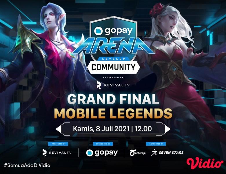 Streaming GoPay Arena Level Up Community Grand Final Week 16: Mobile Legends