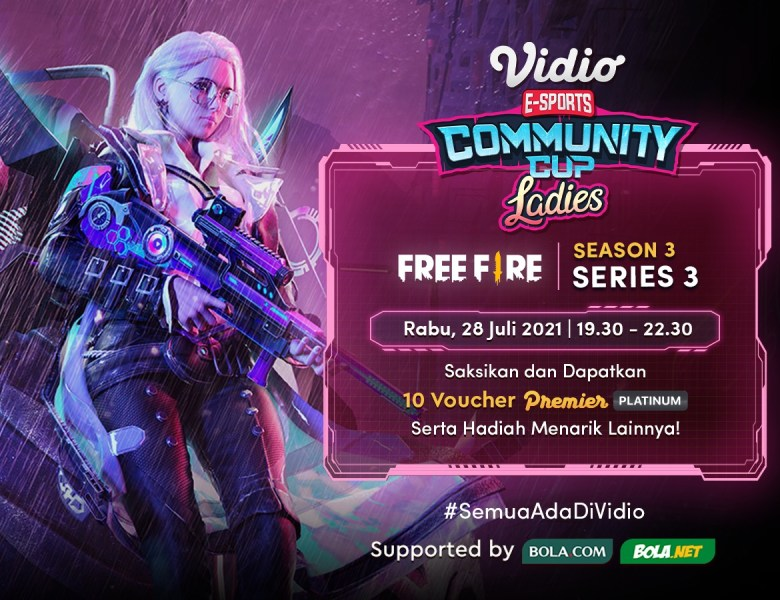 Saksikan Live Streaming Vidio Community Cup Ladies Season 3 – Free Fire Series 3 Final Day