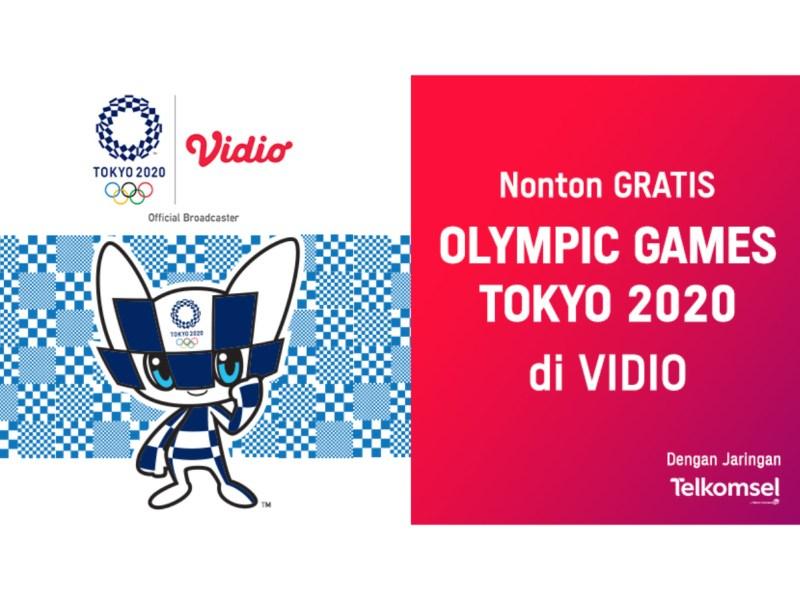 Cara Nonton Olimpiade Tokyo 2020 Gratis Untuk Pengguna Telkomsel di Vidio!