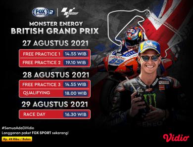 Streaming MotoGP Inggris 2021 di FOX Sports