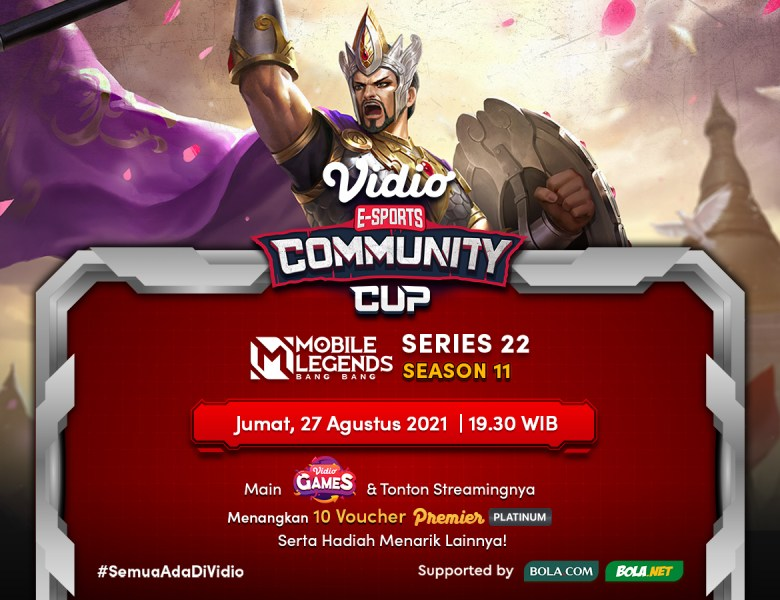 Link Live Streaming Vidio Community Cup Season 11 Mobile Legends