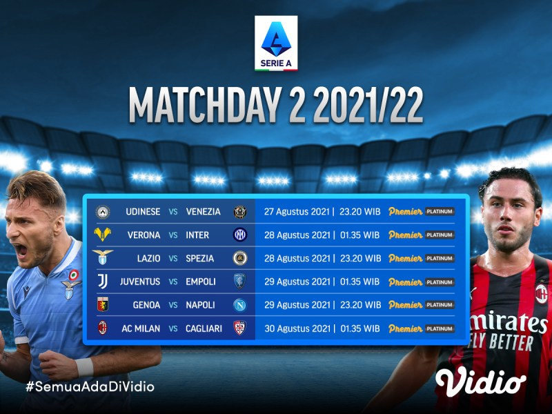 Streaming Serie A Italia 2021/22: Jadwal Matchday 2