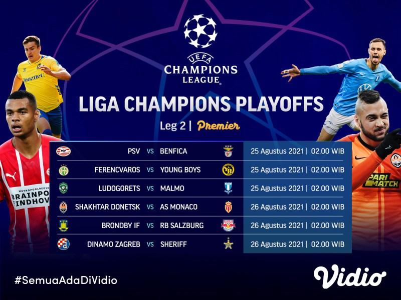 Jadwal Streaming Liga Champions 2021 Babak Play-off Leg 2