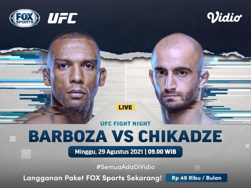 UFC Live Barboza Vs Chikadze: UFC Vegas 35 di FOX Sports