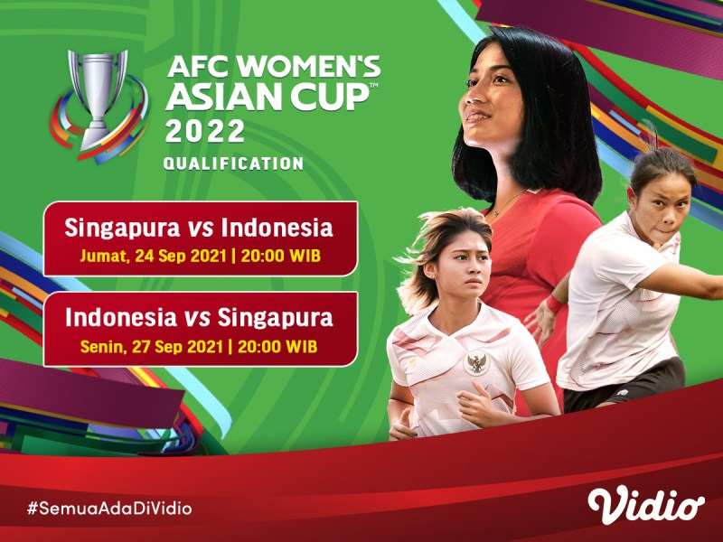 Link Live Streaming Indonesia Piala Asia Wanita 2022 Kualifikasi
