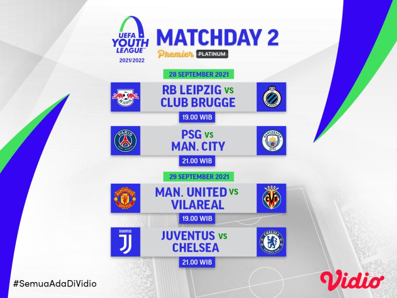 Jadwal dan Link Live Streaming UEFA Youth League 2021/22 Pekan Kedua