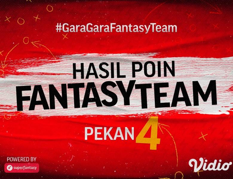 Hasil Fantasy Team Gameweek 4 Liga 1, Ini Dia Klub Paling Gemilang