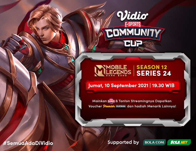 Streaming Vidio Community Cup Season 12 Mobile Legends