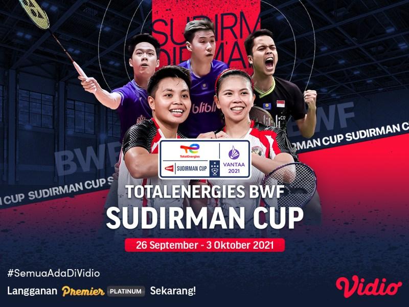 Ini Dia Jadwal Live Streaming Sudirman Cup 2021 Perempat Final
