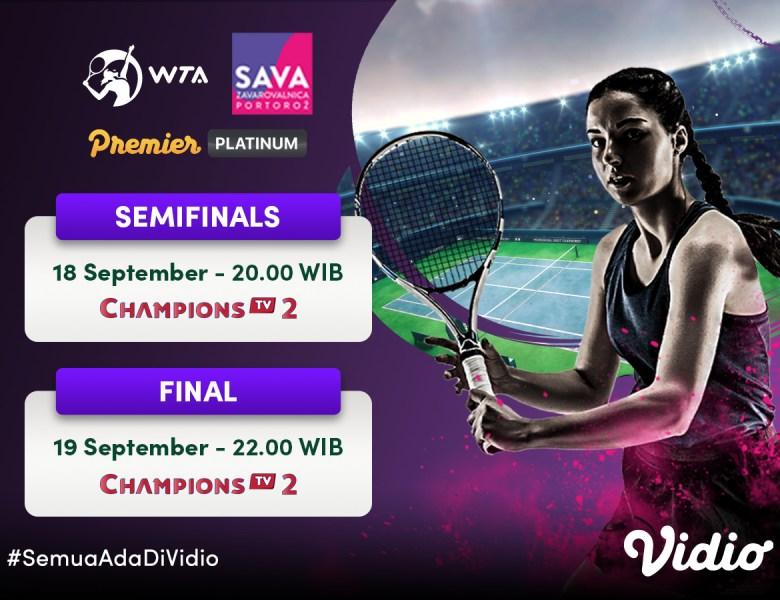 Streaming WTA 250 Zavarovalnica Sava Portorož Semifinal