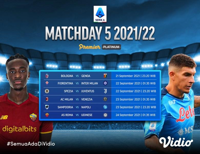 Jadwal dan Link Live Streaming Serie A Italia 2021/22 Pekan 5