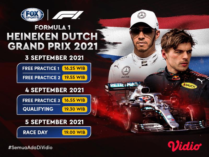 Streaming F1 GP Belanda 2021 Akhir Pekan Ini di FOX Sports