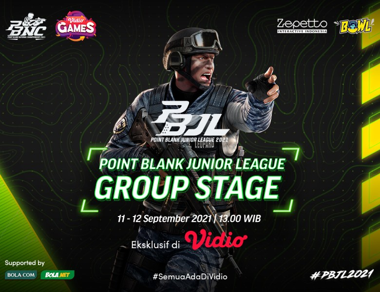 Link Live Streaming Point Blank Junior League Season 2 Babak Penyisihan
