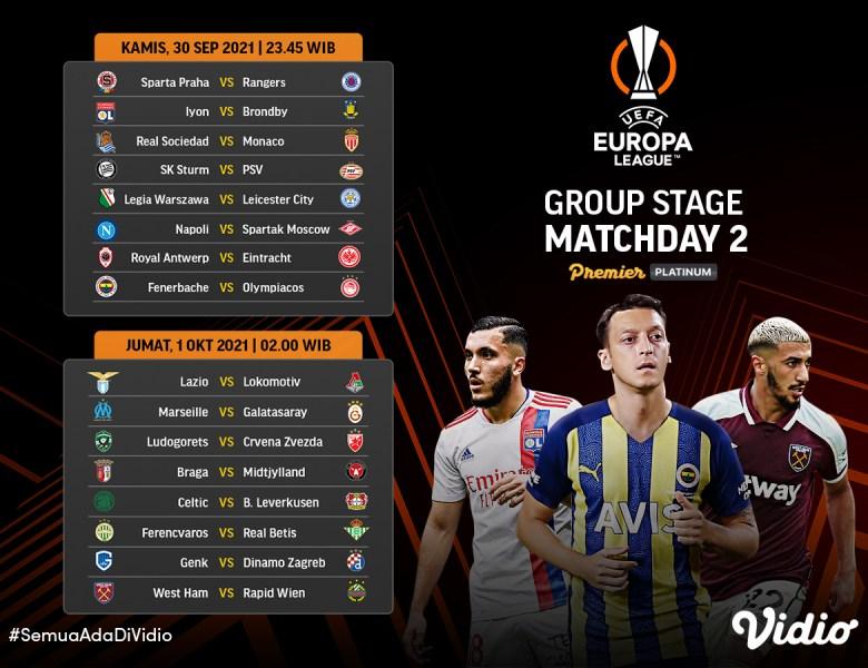 Jadwal Lengkap dan Link Live Streaming Liga Europa 2021-22 Pekan Kedua